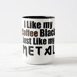 Ich mag mein Kaffee-Schwarzes gerade wie mein Meta Kaffeetasse