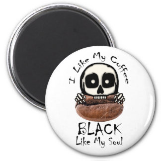Ich mag mein Kaffee-Schwarzes Runder Magnet 5,1 Cm