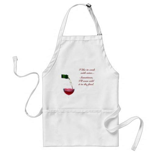 Ich mag, mit Wein kochen…, S… Schürzen