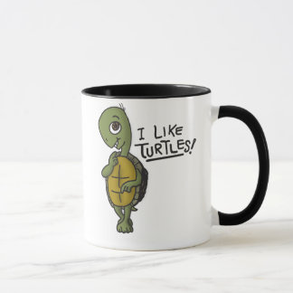 Ich mag Schildkröte-Tasse Tasse