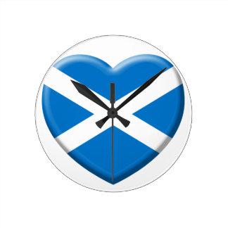 ich mag Schottland Runde Wanduhr