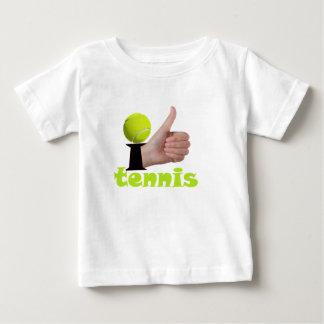 Ich mag Tennis Baby T-shirt