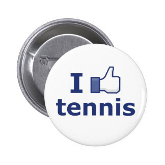 Ich mag Tennis Anstecknadelbutton