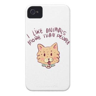 Ich mag Tiere mehr als Leute, Hund iPhone 4 Case-Mate Hülle