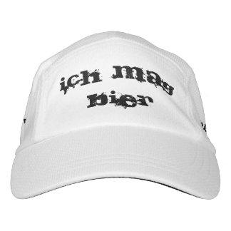 ich Mag-Totenbahre. Ich mag Bier im deutschen Hut Headsweats Kappe