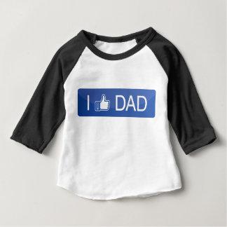 Ich mag Vati Baby T-shirt