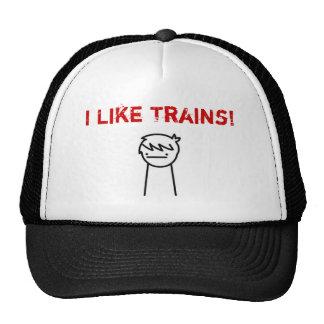 Ich mag Züge ASDF FILM Kappe