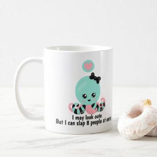 Ich Mai-Blick niedliche Leute-lustige Krake Kaffeetasse
