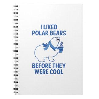 Ich mochte Eisbären Spiral Notizblock