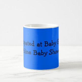 Ich nahm an Baby-Georges on-line-Babyparty teil Tasse