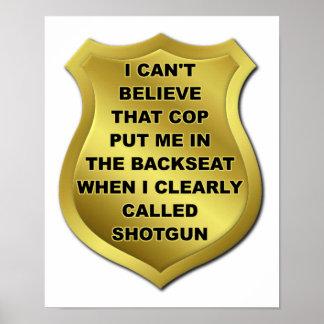 Ich nannte Plakat Shotgun Funny