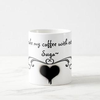 Ich nehme meinen Kaffee mit ExtraSuga Tasse