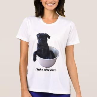 Ich nehme schwarze meine - schwarzer Mops-T - T-Shirt