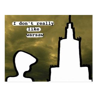Ich nicht wirklich mag Warschau Postkarte