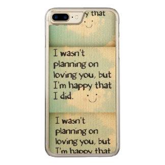 Ich plante nicht auf dem Lieben Sie, aber ich bin… Carved iPhone 8 Plus/7 Plus Hülle