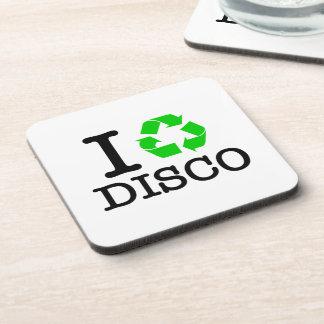 Ich recycle Disco Getränkeuntersetzer