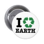 Ich recycle Erde Anstecknadelbutton