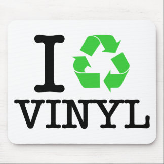 Ich recycle Vinyl Mousepads