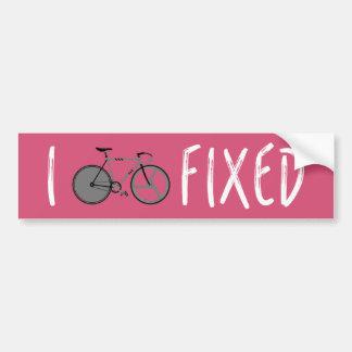 Ich reite örtlich festgelegte - Fahrrad-Abziehbild Autoaufkleber