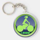 Ich reite radfahrenKeychain Schlüsselanhänger