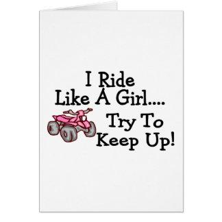 Ich reite wie Viererkabel einen Mädchen-Versuch, Karte