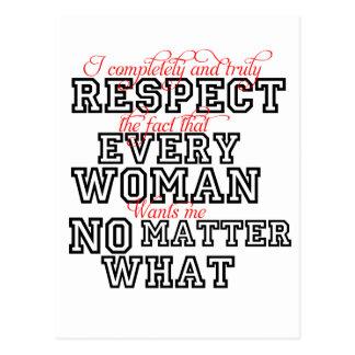 Ich respektiere vollständig jede Frau Postkarte