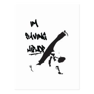 Ich rette Hiphop Postkarte