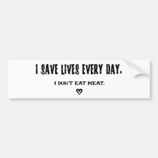 Ich rette Leben jeden Tagesaufkleber Autoaufkleber