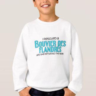 Ich rettete ein Bouvier DES Flandres (weiblicher Sweatshirt