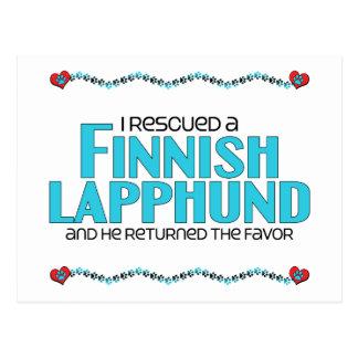 Ich rettete ein finnisches Lapphund (männlichen Postkarte