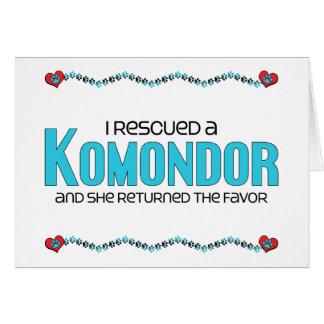 Ich rettete ein Komondor (weiblichen Hund) Karte