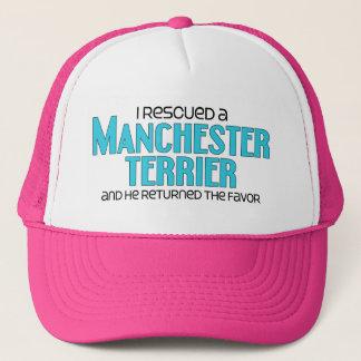 Ich rettete ein Manchester Terrier (männlicher Truckerkappe