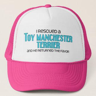 Ich rettete ein Spielzeug Manchester Terrier Truckerkappe