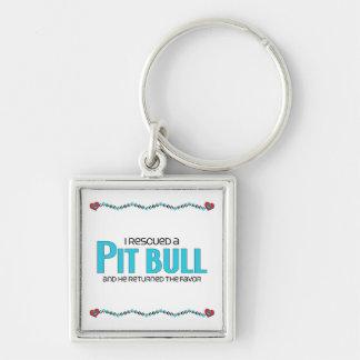 Ich rettete eine Pitbull (männlichen Hund) Schlüsselanhänger
