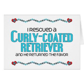 Ich rettete einen Curly-Coated Retriever Karte