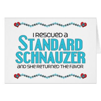Ich rettete einen StandardSchnauzer (weiblichen Karte