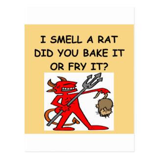 ich rieche eine Ratte Postkarten
