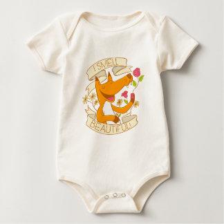 ich rieche schönen Fuchs mit Roten Rosen Baby Strampler