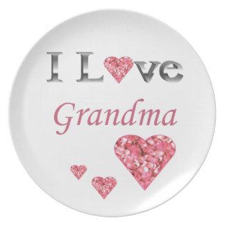 """Ich rosa Herzen der Liebe-Großmutter-"" sammelbare Teller"