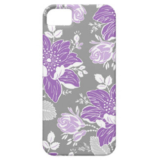 ich rufe lila graues Blumenmuster 5 an iPhone 5 Schutzhülle