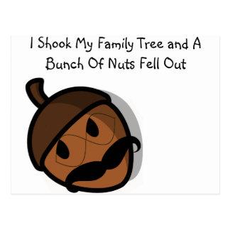 Ich rüttelte meinen Stammbaum Postkarte