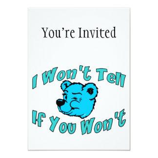 Ich sage nicht geheimem Bären Karte