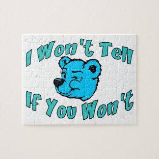 Ich sage nicht geheimem Bären Puzzle