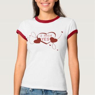 Ich sagte JA Verlobung mit Herzen Hemden
