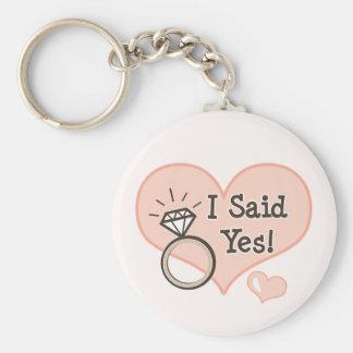 Ich sagte ja Verlobungs-Schlüsselkette Standard Runder Schlüsselanhänger