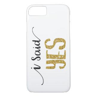 Ich sagte JA Wedding Apple iPhone 8/7 iPhone 8/7 Hülle