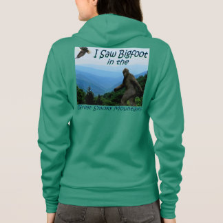Ich sah Bigfoot in Great Smoky Mountains Hoodie