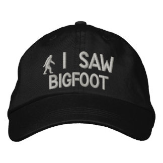 Ich sah deluxe Version Bigfoots Bestickte Kappe