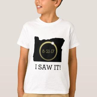 Ich sah es Solareklipse-Korona-Oregon-Silhouette T-Shirt