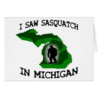 Ich sah Sasquatch in Michigan Grußkarte